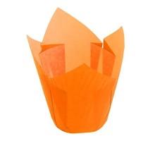 Бумажная форма для маффинов Тюльпан, 50х80мм, оранжевая, 200 штук\уп