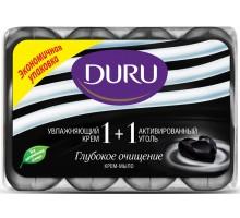 Крем-мыло Duru 1+1 Активированный уголь, 4*90 грамм