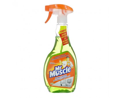 """Средство для чистки стекол и зеркал Мистер Мускул """"Лайм триггер"""", с нашатырным спиртом, 500 мл"""