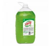 Средство для мытья посуды GRASS Velly Light, зеленое яблоко, ПЭТ, 5 литров