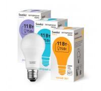 Лампа светодиодная SWEKO, 11Вт, Е27, 220В, холодный свет