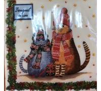 Салфетка 24*24 (25л 3сл) Новый Год ArtBouqet, Home Collection