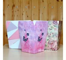 Коробка цветочная, ламинированная, ассорти, 12х9см, высота 15см, 10 штук/уп