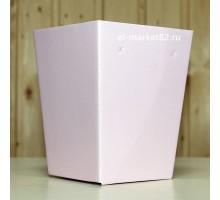 Коробка для цветов картонная, мини, Розовая, 12х9см, высота 15см