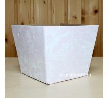 Коробка для цветов картонная, низкая, Розовый паттерн, 15х12см, высота 13см