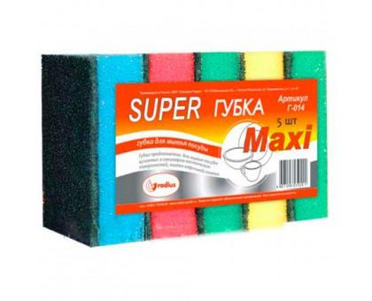 Губка для посуды SUPER MAXI, 5 штук/уп
