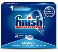 Таблетки Finish classic, для мытья посуды в посудомоечных машинах, 28 шт/уп