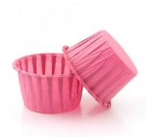 "Форма для выпечки бумажная ""Маффин"", розовая, 50*40мм, 100 штук\уп"