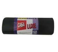 Пакеты для мусора 160 литров, 90х110 см, 10 штук, САБА Luxe