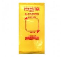 Фасовочный пакет Эконом желтый, 14х32 см