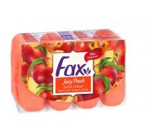 Туалетное мыло Fax Сочный персик, 4х70 грамм, экопак