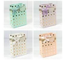 """Пакет подарочный """"Леди"""" с тиснением (4 цвета), 4шт/уп, 18*23*10, OMG-gift"""
