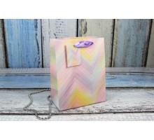 """Пакет подарочный """"Разноцветный"""" с блеском, 5шт/уп, 18*23*10, OMG-gift"""
