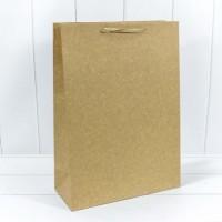 Подарочный бумажный крафт пакет, 32*45*14, Люкс, 5 штук, OMG-gift