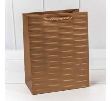 """Пакет подарочный """"Престиж"""" Бронзовый, 5шт/уп, 18*23*10, OMG-gift"""