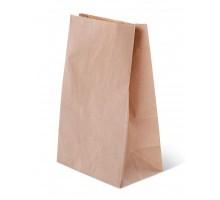 Пакет бумажный, 120х80х250, прямоугольное дно, для пищевых продуктов, крафт