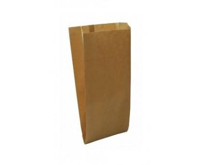 Пакет бумажный для пищевых продуктов, 140х60х200мм, с плоским дном, бурый