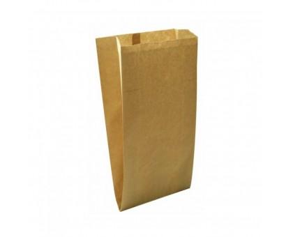 Пакет бумажный для пищевых продуктов, 100х60х300мм, с плоским дном, бурый
