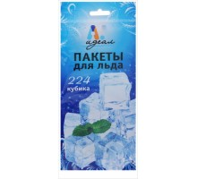 """Пакеты для льда """"Идеал"""", прозрачные, на 224 кубика"""