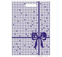 Пакет Бантик синий, вырубная ручка, 22х32см, 100 шт/уп