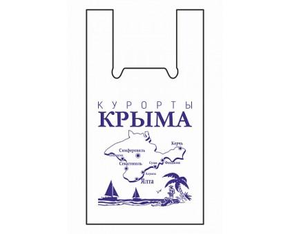 """Пакет-майка """"Курорты Крыма"""", 32х55см, 35мкм, 50 штук/уп"""