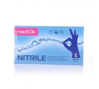 Перчатки нитриловые mediOk, фиолетовые, размер S, 100 шт/50 пар