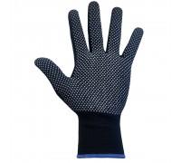 Перчатки нейлоновые с ПВХ-точкой, черные, 1 пара