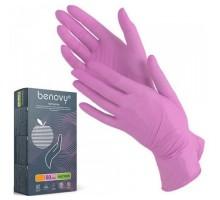 Перчатки нитриловые размер S, сиреневые, неопудренные, текстурированные, нестерильные, 100шт/50пар