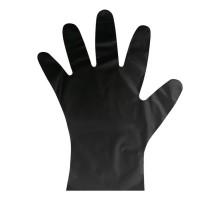 Перчатки одноразовые черные, эластомер, 50 пар, размер L, Aviora