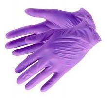 Перчатки нитриловые, Aviora, сиреневые, размер S, 100 штук/50 пар