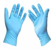 Перчатки нитриловые Aviora, размер L, неопудренные, 100шт/50пар, голубые