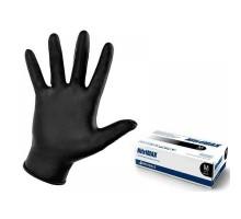 Перчатки нитриловые Nitrimax, размер M, неопудренные, повышенной прочности, 100шт/50пар, черные