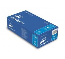 Перчатки нитриловые неопудренные Nitrylex PF Protect, 200 штук (100 пар), размер М