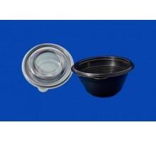 Одноразовый пластиковый контейнер для супа ПР-МС-350, 350 мл, с крышкой