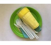 Набор пластиковой посуды АЙ-ДА, БРИГАДИР, 6 персон