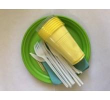"Набор пластиковой посуды ""АЙ-ДА, БРИГАДИР"", 6 персон"