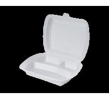 Ланчбокс одноразовый LBE-3, 247*207*45, белый