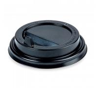 Крышка для стакана 250 мл, 80мм, черная, 100 штук