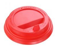 Крышка для стакана 250 мл, 80мм, красная, 100 штук
