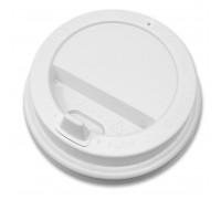 Крышка для стакана 250 мл, 80мм, белая, 100 штук