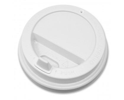 Крышка для стакана 180мл, 70мм, белая, 100 штук