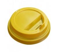 Крышка для стакана 250 мл, 80мм, желтая, 100 штук
