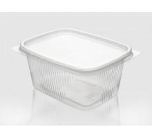 Контейнер пищевой пластиковый, прямоугольный, 200мл, 108х82х40мм, с крышкой
