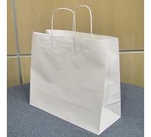 Пакет бумажный с кручеными ручками, 450х150х350мм, белый