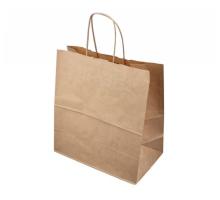 Пакет бумажный (крафт пакет), 480х120х450мм, крученые ручки, бурый