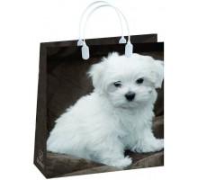 Пакет Белый щенок S-110/С, мягкий пластик, 230*260+100мм, MagicPack