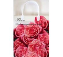 Пакет Букет розовых роз S-81/С, мягкий пластик, 230*260+100мм, MagicPack