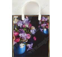 Пакет Букеты на черном S 94/С, мягкий пластик, 230*260+100мм, MagicPack