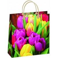 Пакет Нежные тюльпаны S-131/С, мягкий пластик, 230*260+100мм, MagicPack
