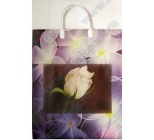 Пакет Белая роза L 56/С, мягкий пластик, 320*400+100мм, MagicPack